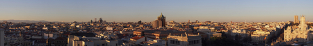Panoramic view or Madrid