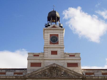 Clock in Puerta del Sol