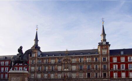 Felipe III statue at Plaza Mayor in Madrid