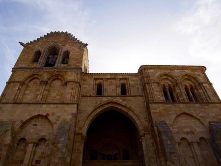 Basilica of Saint Vicent in Avila - Spain Stock Photo