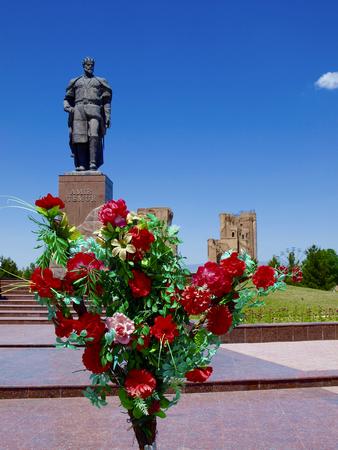 Ak Saray Palace - Shakhrisabz in Uzbekistan Stock Photo