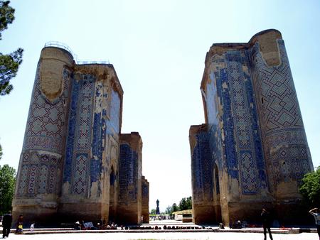 Shakhrisabz, Uzbekistan - May 1, 2012 Ak Saray Palace Editöryel