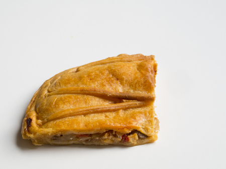 Spanish pie on white background