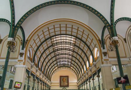 Ho Chi Minh, Vietnam, December 16, 2017 Saigon Central Post Office