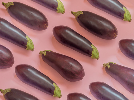 Eggplant pattern on pink background