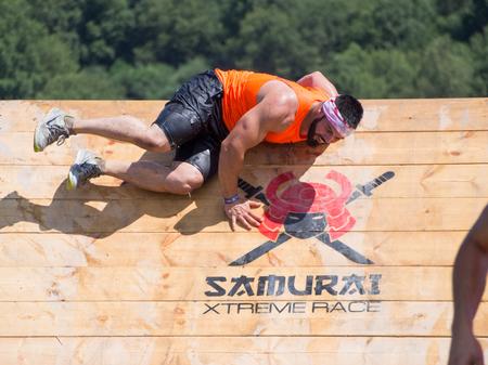 As Pontes - Spain 07.07.2018 Sportsman during the Samurai Xtreme Race 2018