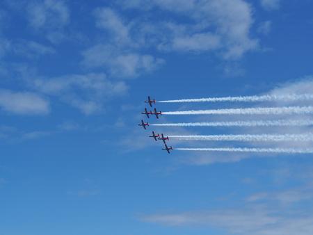 Aerobatic show Stock Photo