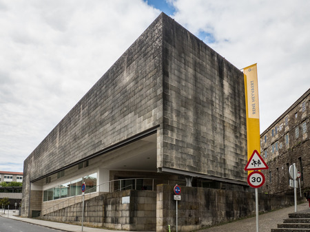 Santiago de Compostela - Spain, June 15, 2019 - Galician Center of Contemporary Art building in Santiago de Compostela - Spain