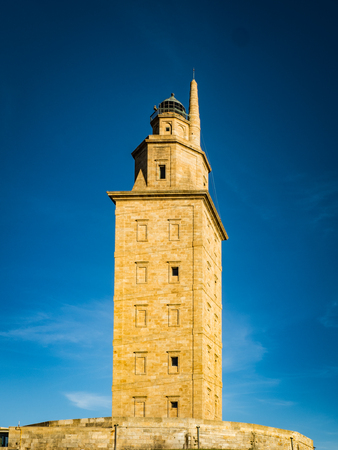 Tower of Hercules  is the ancient Roman lighthouse in the world - A Coruna , Spain Редакционное
