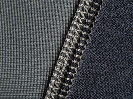 Neoprene stitch macro in black