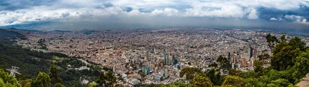 Panoramic view of Bogota city from Montserrat Hill