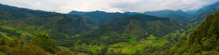 Panoramic view of Cocora Valley in Colombia
