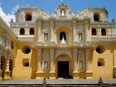 La Merced Church in Antigua - Guatemala Stock Photo