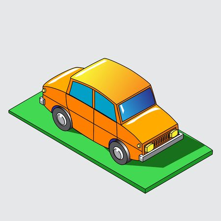 Isometric car icon.  Stock Illustration.