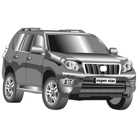Car suv for rent with. Illustration isolated on white background.