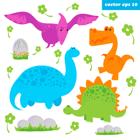 dinosaurus set Illustration