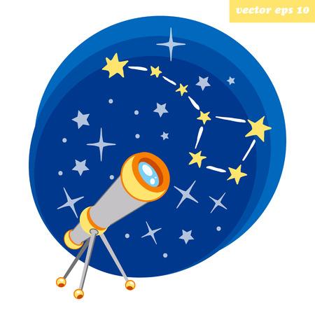 Teleskop Vektorgrafik