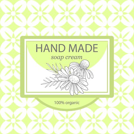 Natural and hand made home cosmetic package.