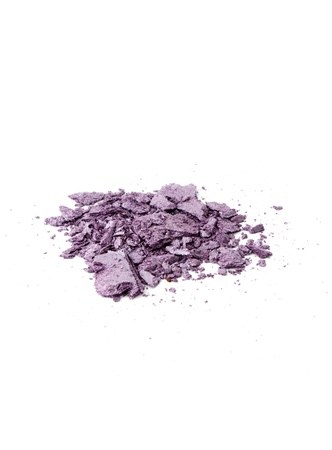 pile of the lilac eye shadow isolated on white