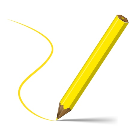 Yellow pencil Stock Vector - 17937067
