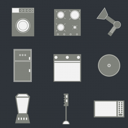 Set of household icons Vector