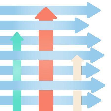 Many arrows - abstract infographics of progress Illustration