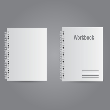 Two white realistic notebooks