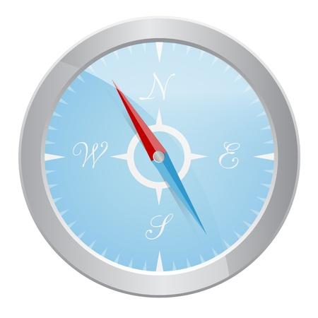 Design of silver compass Stock Vector - 17937081