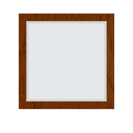 plated: Brown wood border