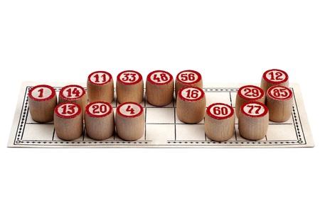Full lotto card Stock Photo