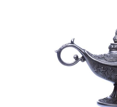 candil: Un elemento de diseño lámpara de petróleo al este con Egipto o Arábica textura isol