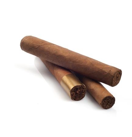 Cigars isolated on white background Stock Photo