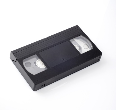 superseded: Video cassettes isolated on white background  Stock Photo