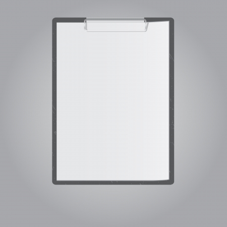 Tablet for paper on grey background Stock Photo - 18140107