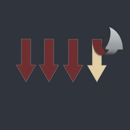 po: Concept of  move-up , progress  Illustration of 3 arrows that po Stock Photo