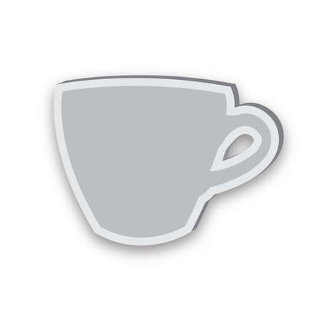 Sticky icon of cup isolated on white background Stock Photo