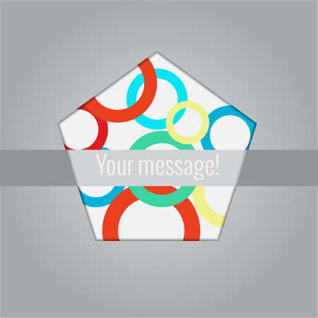 Abstract background elements with place for your text