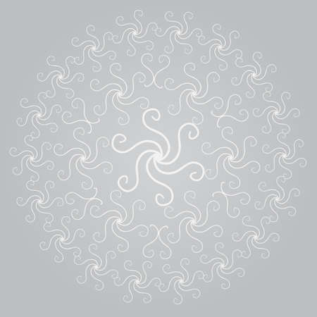 Swirl background with many calligraphic curved lines Vector