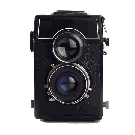 lomo: Old Lomo camera isolated on white background
