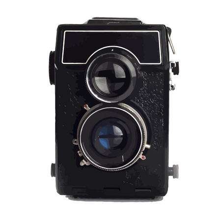 50mm: Old Lomo camera isolated on white background