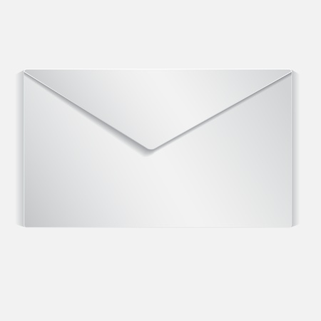 Realistic illustrated letter. Isolated on white background