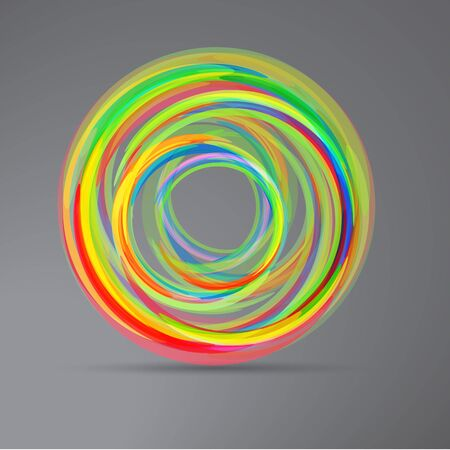 Abstract techno circle background Stock Photo