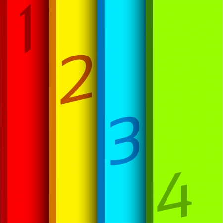 Abstract vertical background with four walls with place for text on it. Four option temlate. Illustration