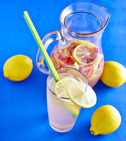 Refreshing Homemade Ice Cold Strawberry Lemonade photo