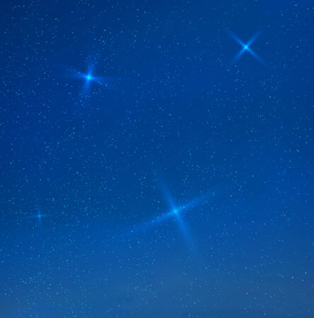 soir�e: skyes du soir bleu avec des �toiles