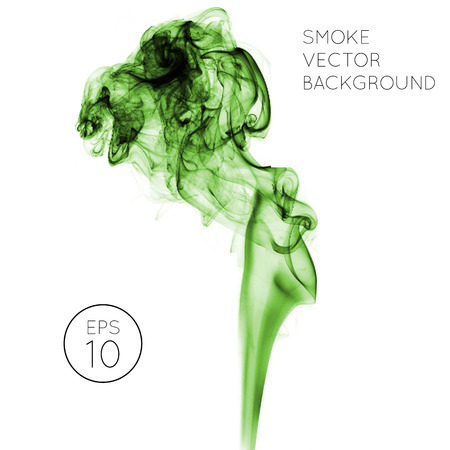 Realistic green smoke