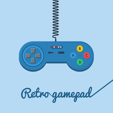 gamepad: Retro gamepad in flat style