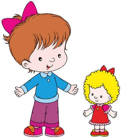 animate: Girl and doll