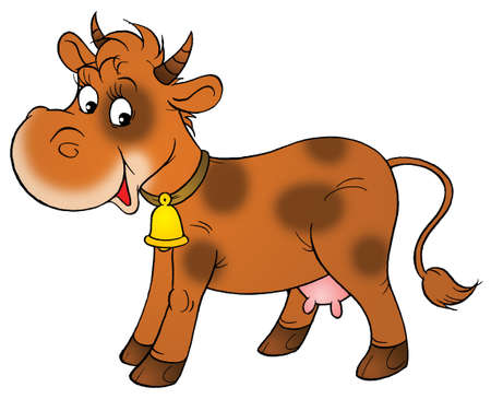 spotty rural cow Stock Photo - 429823