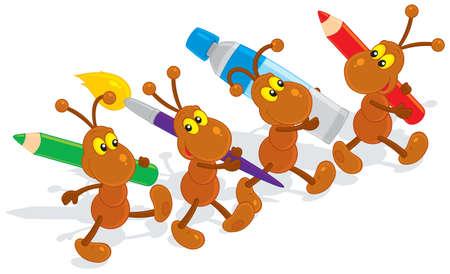 Las hormigas artistas
